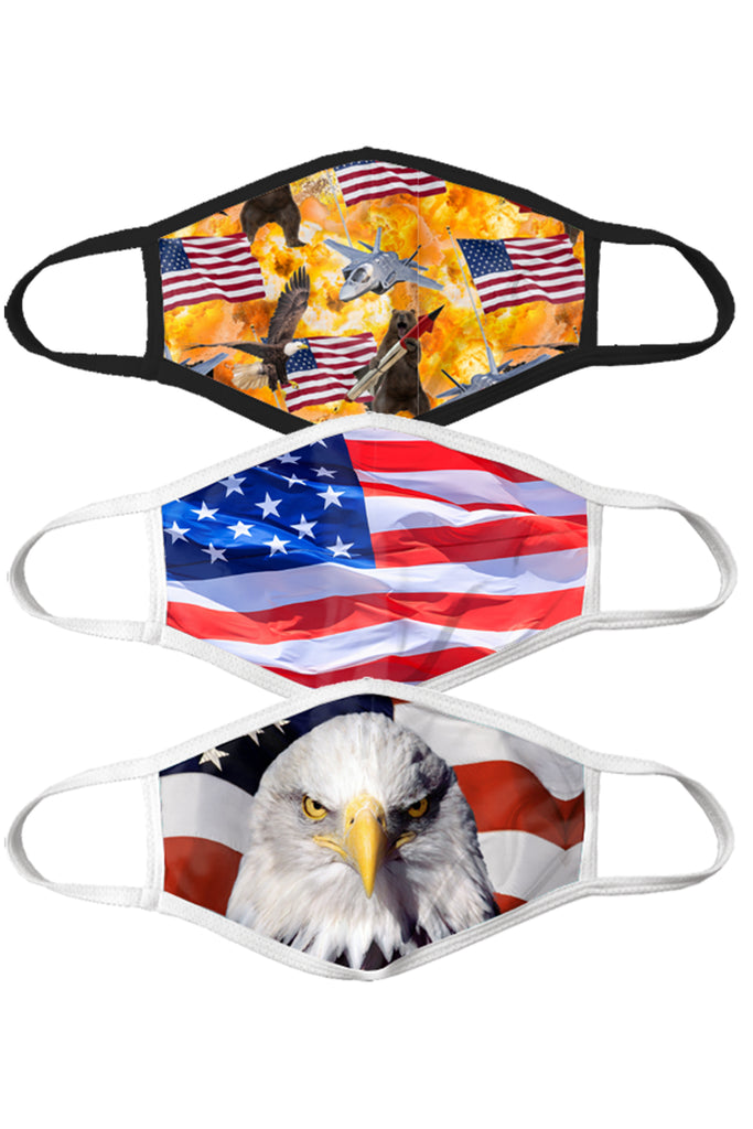 The Rockets Glare | Americana Face Mask 3 Pack