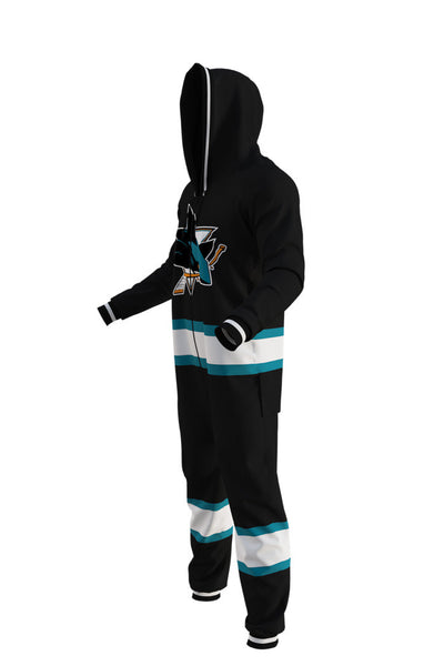 San Jose Sharks NHL Onesie Pajamas - Shinesty