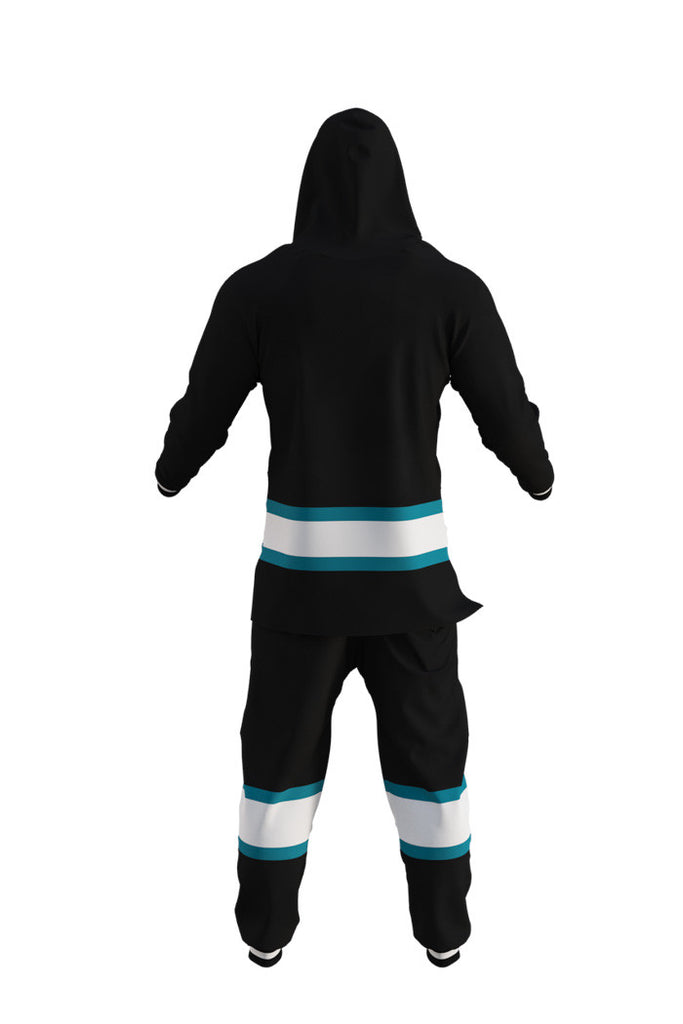 San Jose Sharks NHL Onesie Rear View - Shinesty
