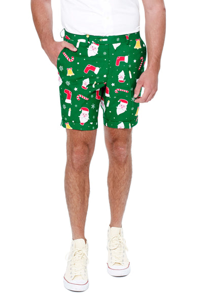 Ugly Christmas Suit Shorts by Opposuits