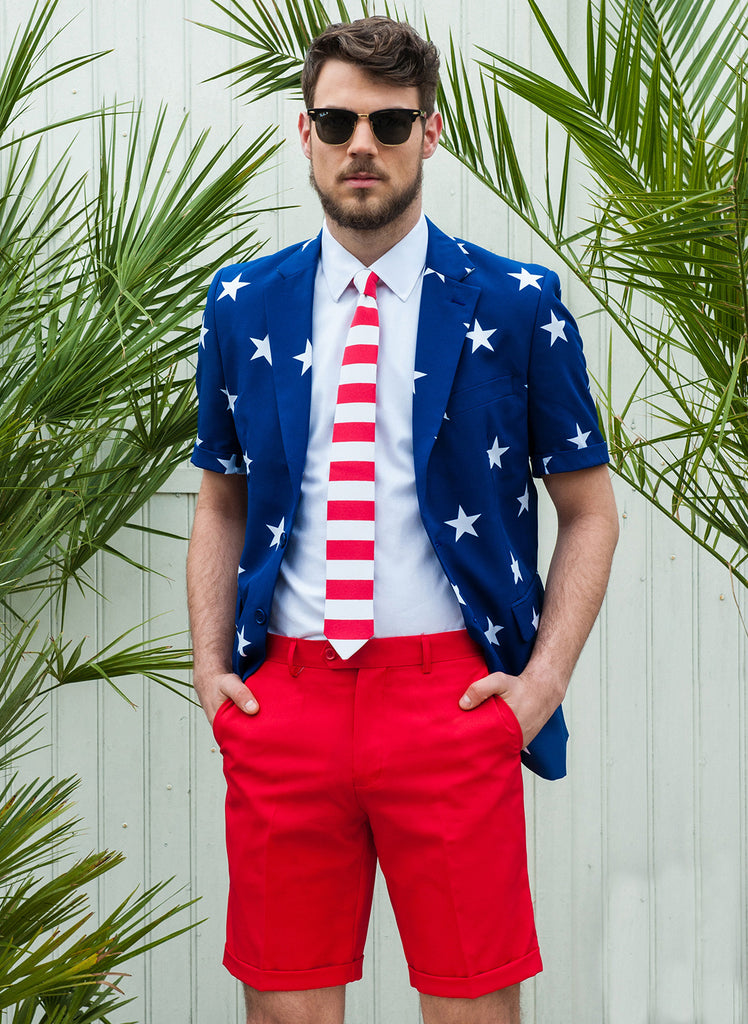 The Merican Gentleman American Flag Summer Suit: Martha's Vineyard Edition by Opposuits