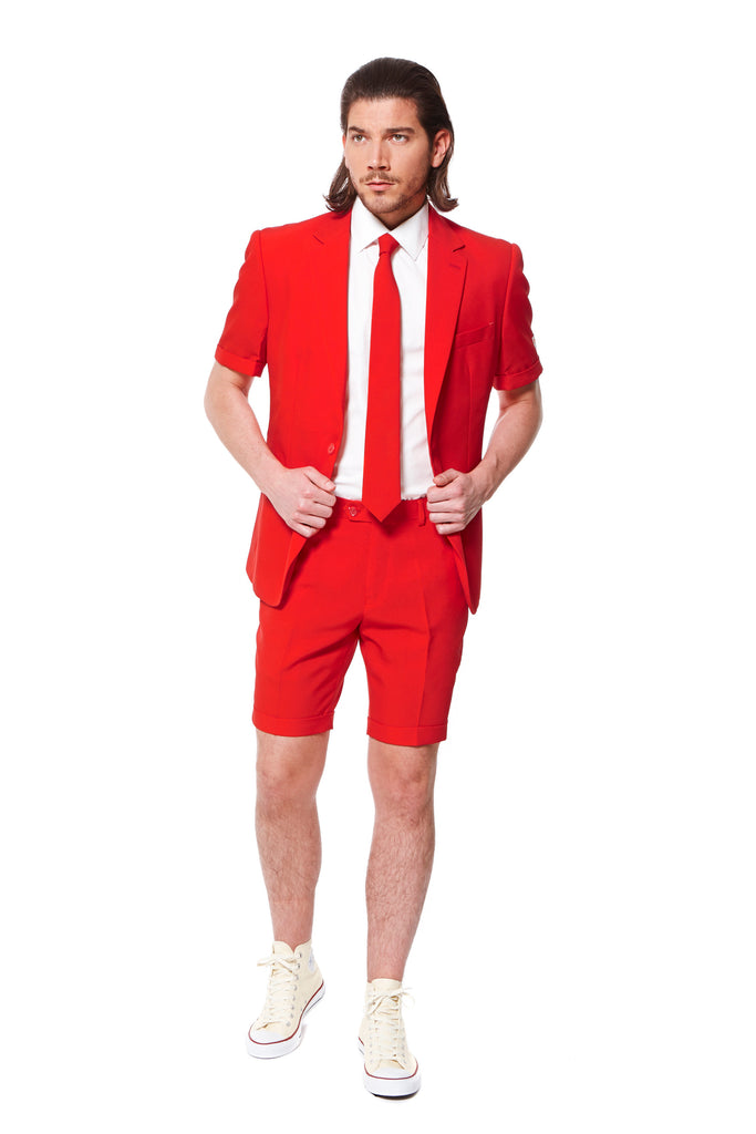 Lust Beacon Red Summer Dress Suit by Opposuits