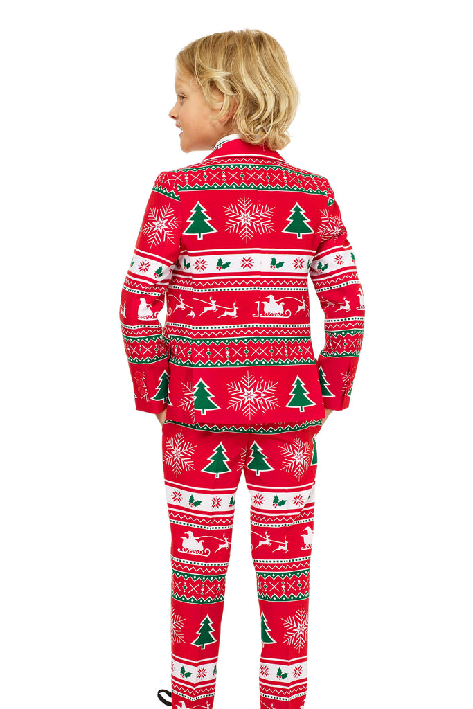 boys Christmas suit back shot