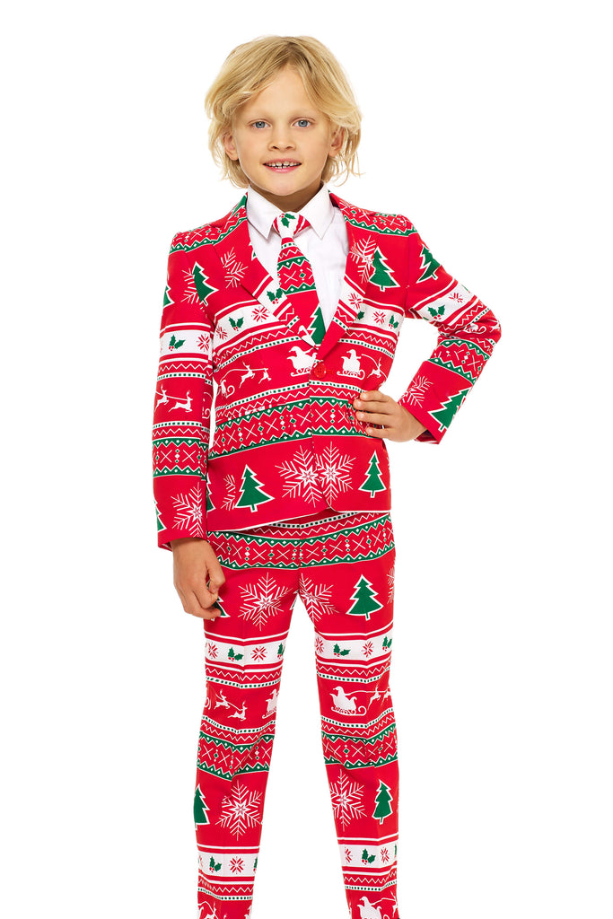 the little soiree of sin boys ugly christmas suit