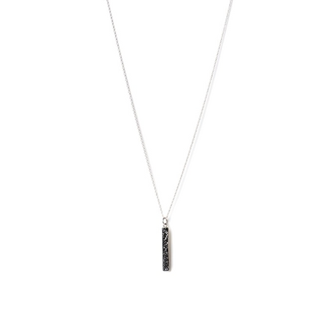 Diamond Chip Long Drop Necklace