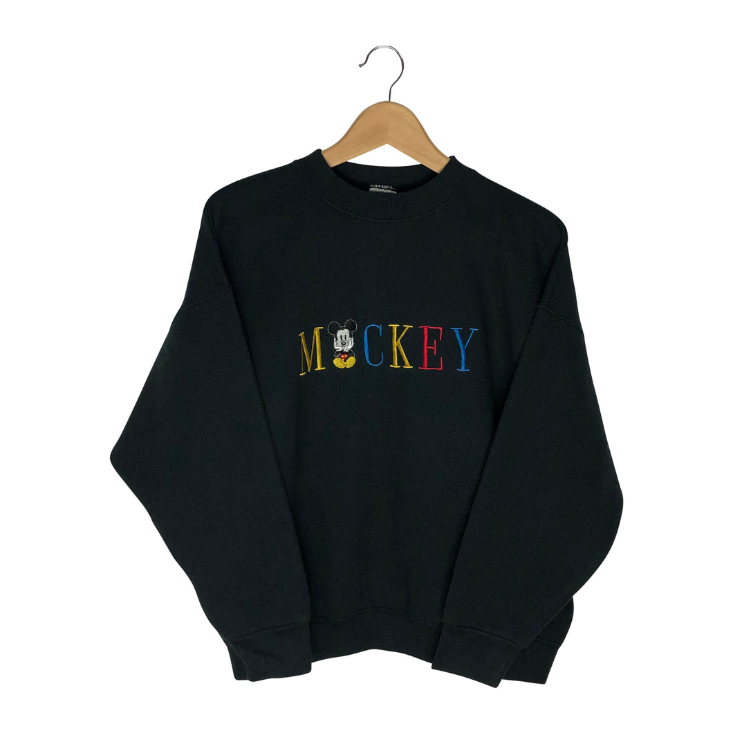 Vintage Mickey Spell-Out Sweatshirt - Women's XL