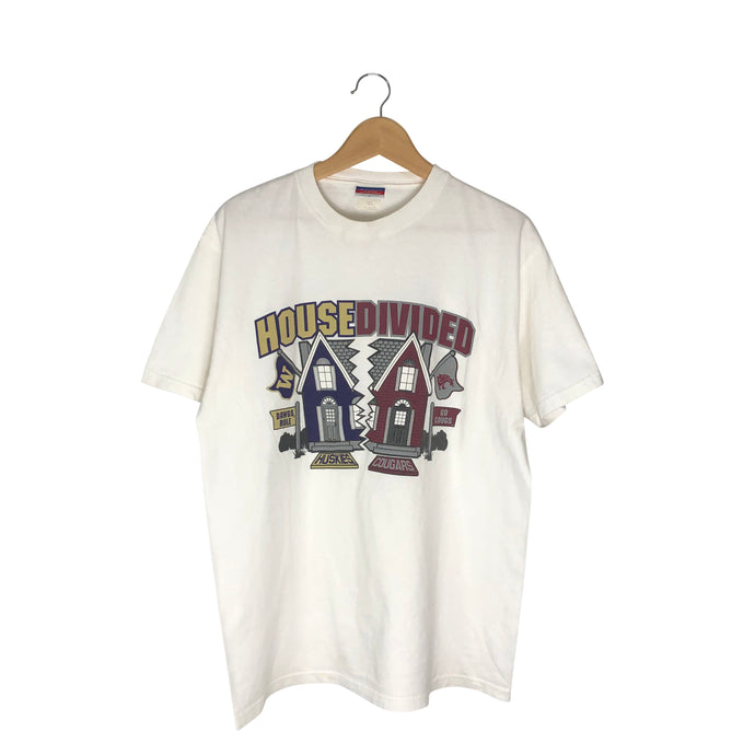 Vintage WSU vs WU House Divided T-Shirt - Men's Medium