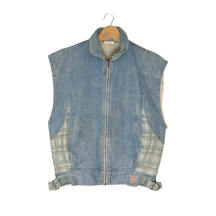 Vintage 1980s Guess Georges Marciano Denim Vest Jacket - Men's Small