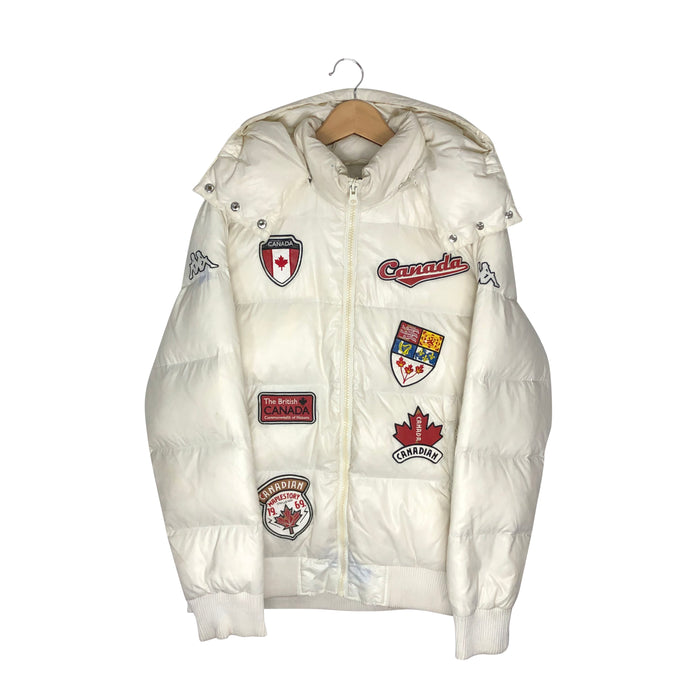 Vintage Kappa Custom Canada Patch Puffer Jacket - Women's XXL