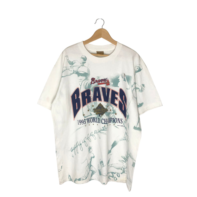 Vintage 1995 Atlanta Braves All-Over Print T-Shirt - Men's XL