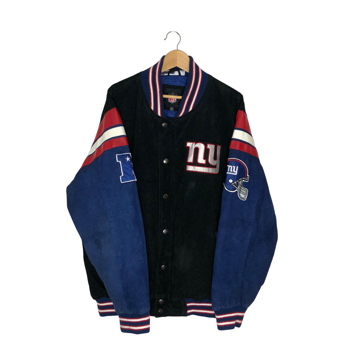 Vintage New York Giants Suede Varsity Jacket - Men's XL