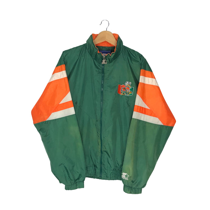 Vintage Starter Miami Hurricanes Colorblock Windbreaker - Men's Medium