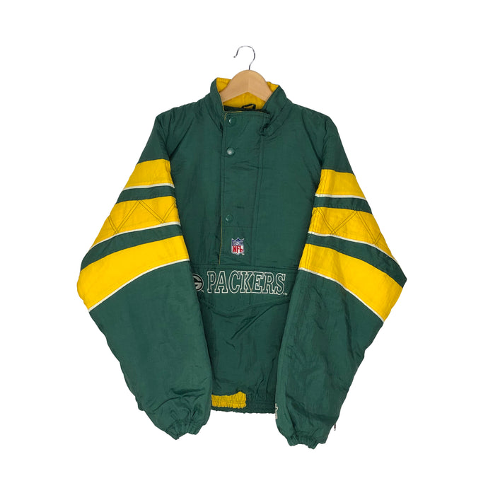Vintage Starter Green Bay Packers 1/2 Zip Insulated Pullover Jacket - Men's XL
