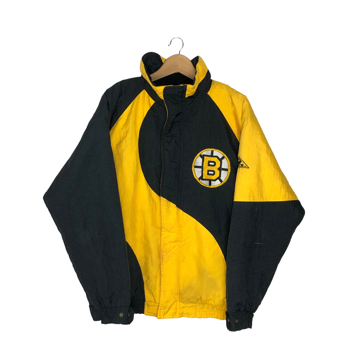 Vintage Rare Boston Bruins Colorblock Insulated Jacket - Men's Small