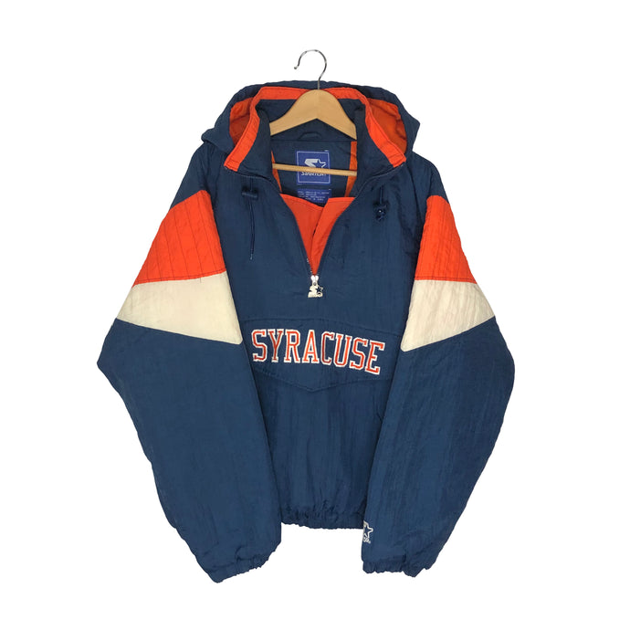 Vintage Starter Syracuse 1/4 Zip Insulated Pullover Jacket - Men's Large