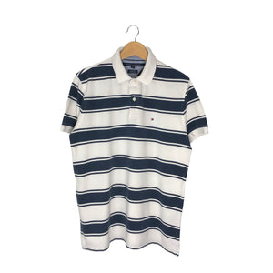 Tommy Hilfiger Striped Rugby Polo Shirt - Men's Large