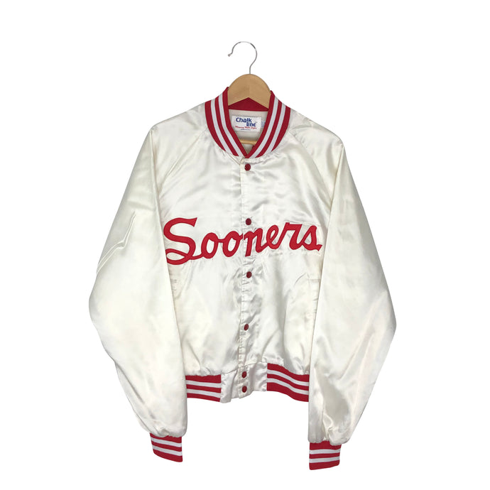 Vintage Oklahoma Sooners Satin Bomber Jacket - Men's Large