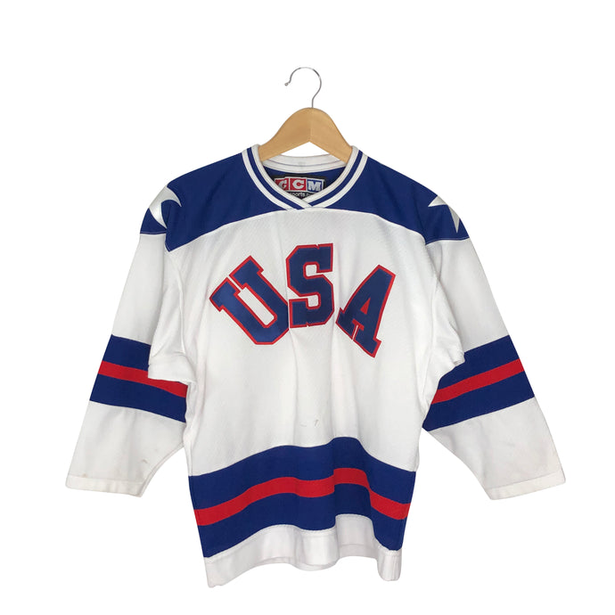 Vintage CCM USA Hockey Jersey - Men's XS