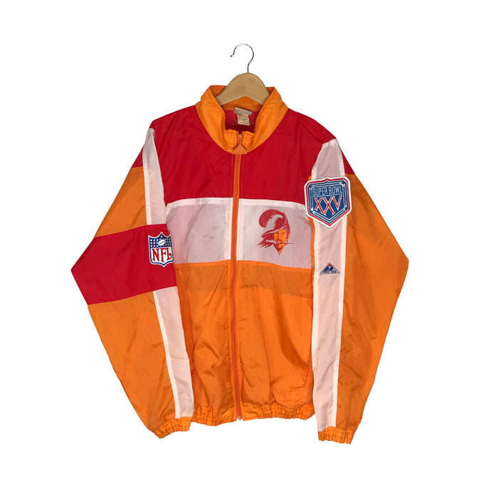 Vintage 1991 Super Bowl XXV Tampa Bay Buccaneers Windbreaker - Men's Large