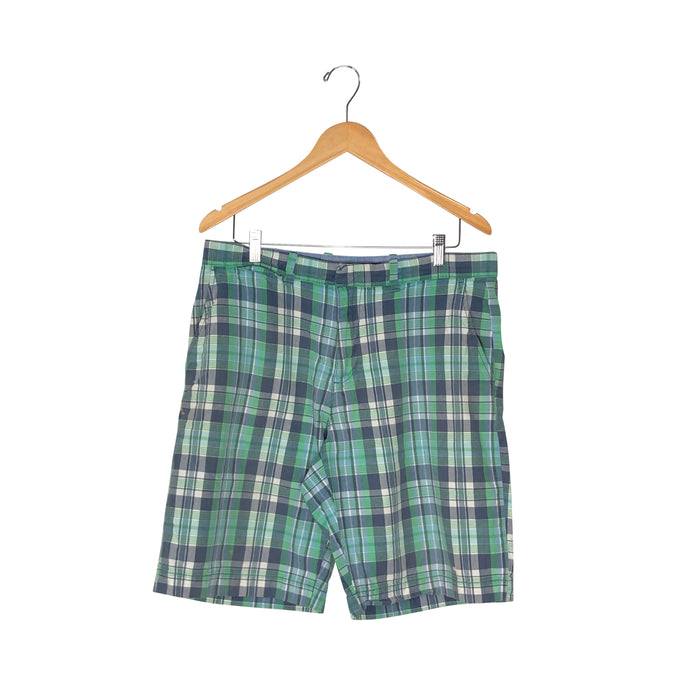 Tommy Hilfiger Plaid Shorts - Men's 34