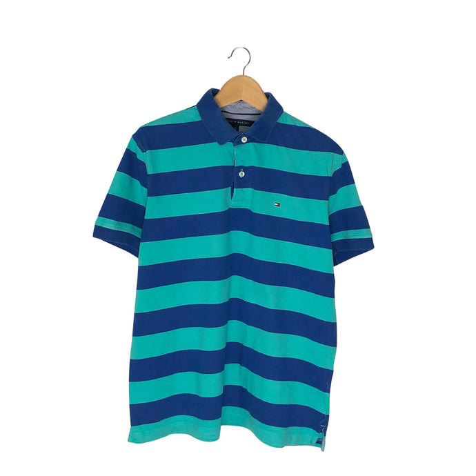 Tommy Hilfiger Striped Polo Shirt - Men's Medium