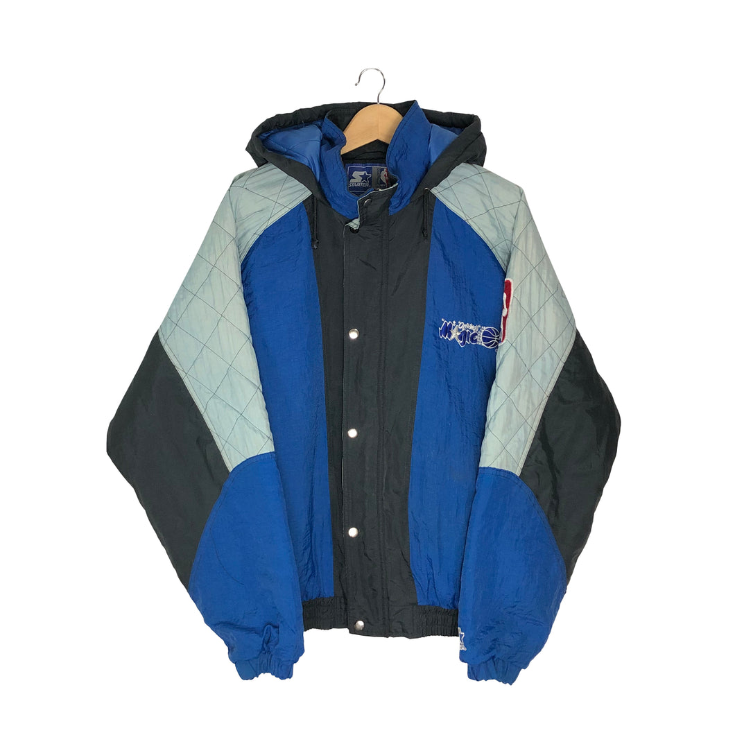 Vintage Starter Orlando Magic Insulated Jacket - Men's Large