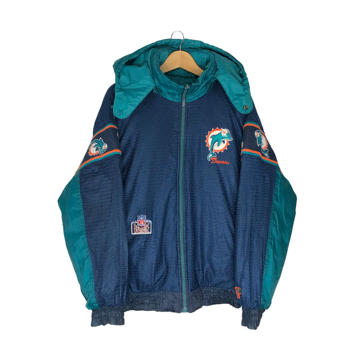 Vintage Pro Player Miami Dolphins Insulated Reversible Jacket - Men's Large