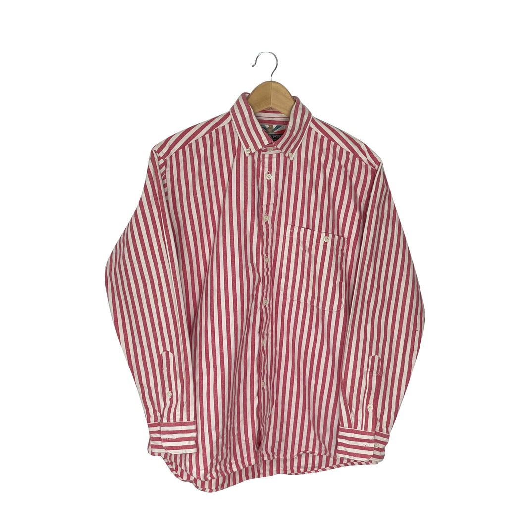 Vintage Button-Down Striped Shirt - Men's Large