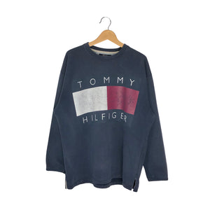 Vintage Tommy Hilfiger Big Flag Pullover Sweatshirt - Men's XXL