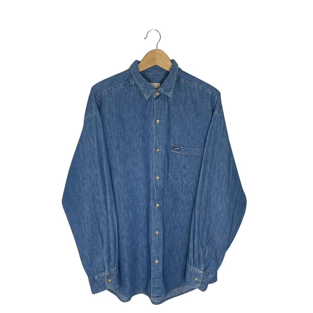 Vintage Guess Georges Marciano Denim Shirt - Men's Large