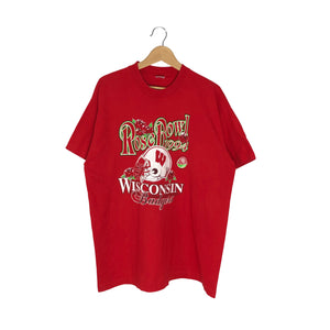 Vintage 1994 Wisconsin Badgers Rose Bowl T-Shirt - Men's XL