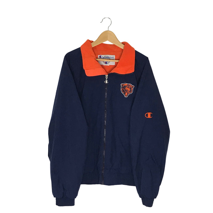 Vintage Champion Chicago Bears Fleece Lined Jacket - Men's XL