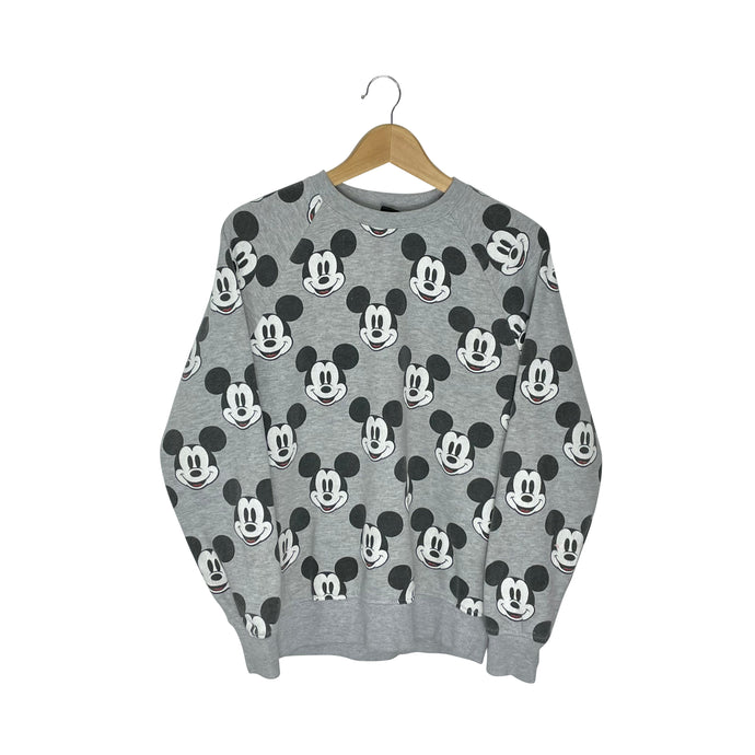 Disney Mickey Face Sweatshirt - Women's Small