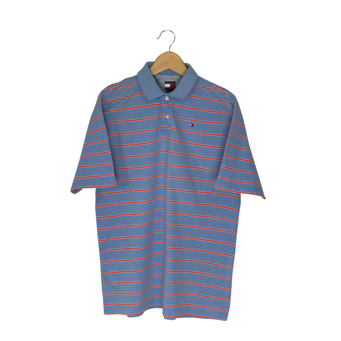 Vintage Tommy Hilfiger Striped Polo Shirt - Men's Large
