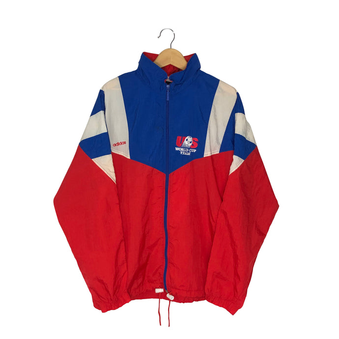 Vintage 1994 Adidas USA World Cup Colorblock Windbreaker - Men's Large