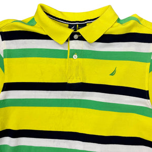 Nautica Striped Rugby Polo Shirt - Men's XS