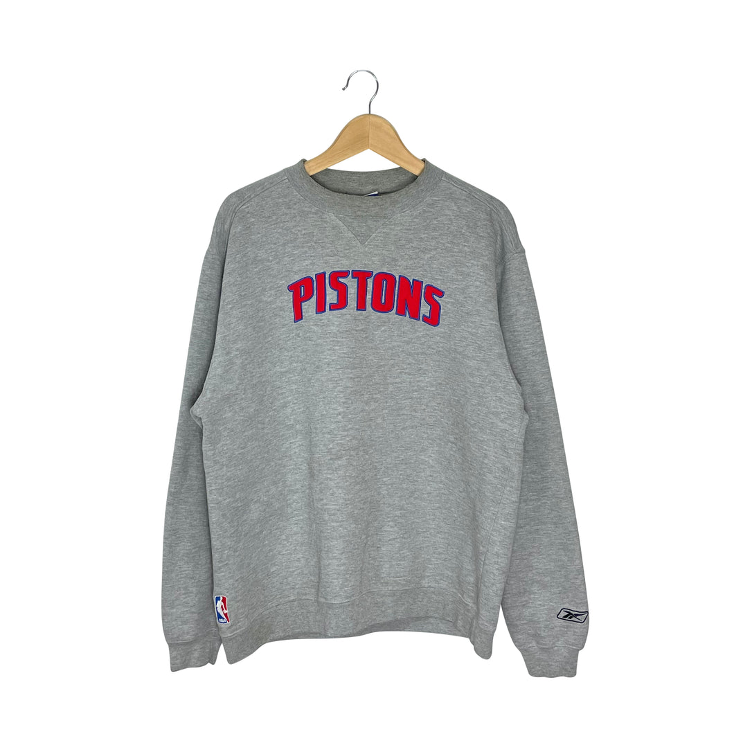 Vintage Reebok NBA Detroit Pistons Sweatshirt - Men's Large