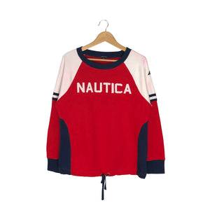 Nautica Spell Out pullover Sweatshirt - Women's XL