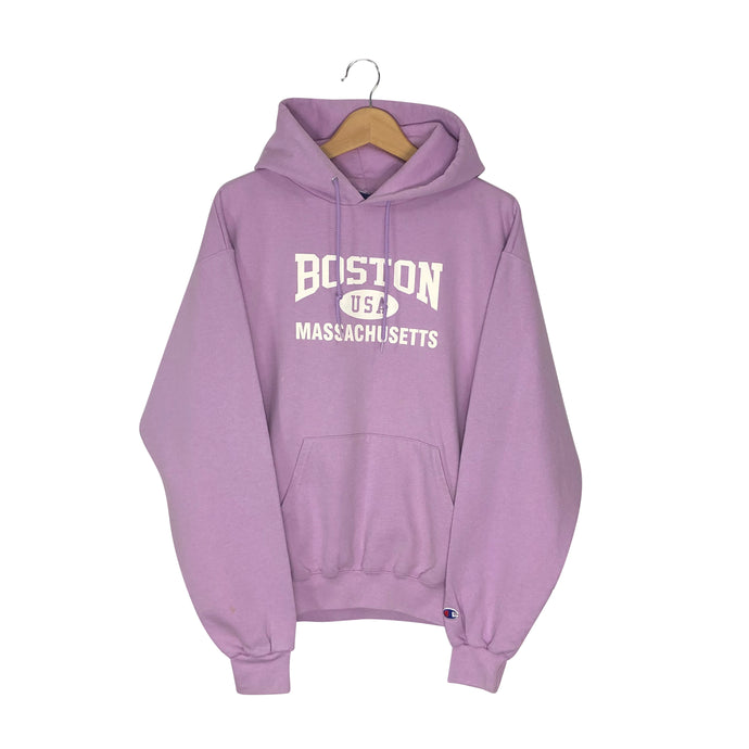 Vintage Champion Boston Massachusetts Hoodie - Women's Medium