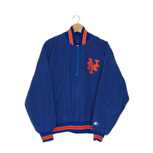 Load image into Gallery viewer, Vintage Starter New York Mets 1/4 Zip Pullover Lightweight Jacket - Men's Small