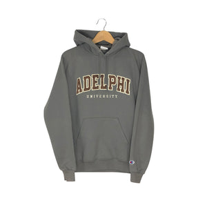 Vintage Champion Adelphi University Hoodie - Women's Medium