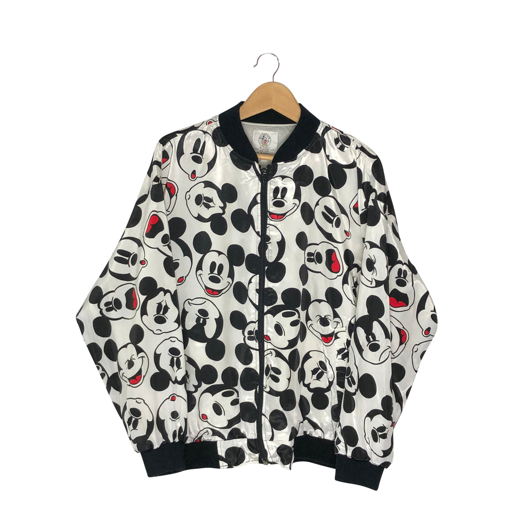 Vintage Disney Mickey Mouse Expressions Lightweight Bomber Jacket - Women's Large