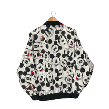 Load image into Gallery viewer, Vintage Disney Mickey Mouse Expressions Lightweight Bomber Jacket - Women's Large