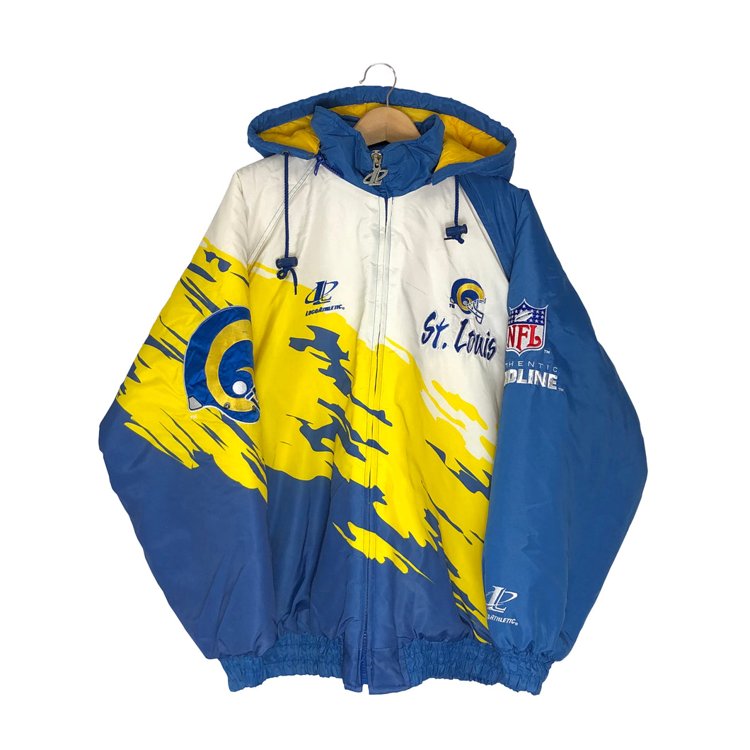 Vintage Logo Athletic St. Louis Rams Insulated Splash Jacket - Men's XL