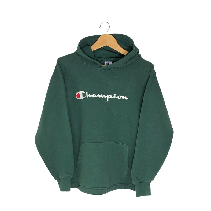Vintage Champion Spell Out Hoodie - Women's Medium