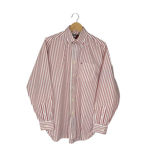 Vintage Tommy Hilfiger Button-Down Striped Shirt - Men's Large