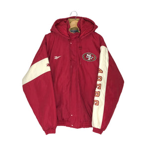 Vintage Reebok San Francisco 49ers Insulated Jacket - Men's Medium