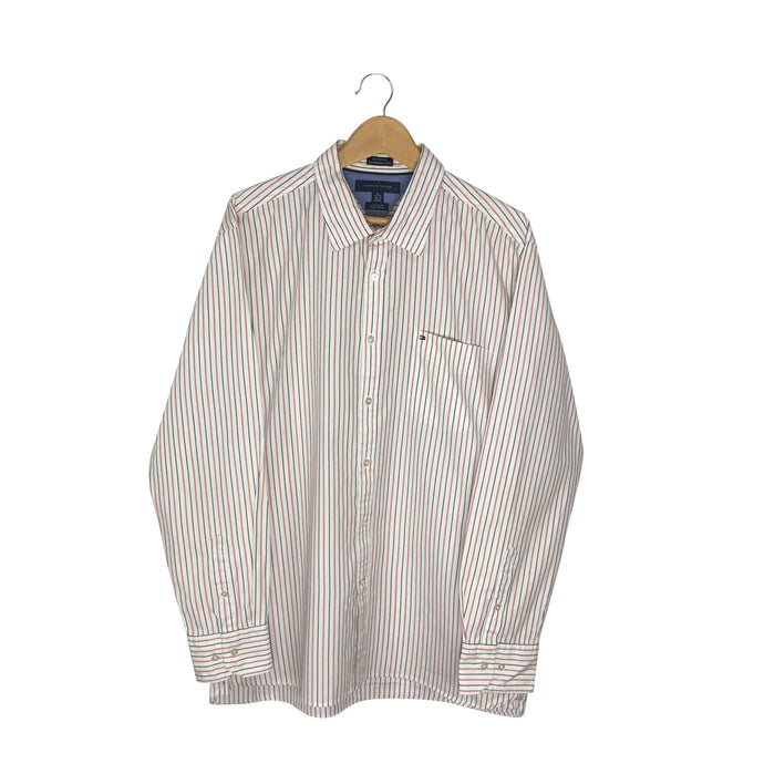 Tommy Hilfiger Button-Up Striped Shirt - Men's XL