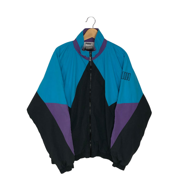 Vintage Puma Colorblock Windbreaker - Women's XL