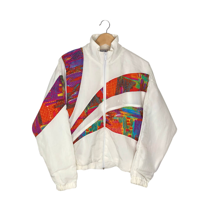 Vintage Reebok Abstract Windbreaker - Women's Medium